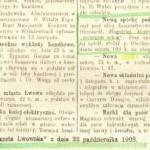 Otwarcie Apteki POD ZGODA 1908 rok. Lwow