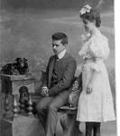 Irene Oberhard wraz z bratem Izydorem - ok. roku 1903. Lwow.