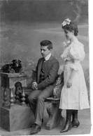 Irena Oberhard wraz z bratem Izydorem - ok. roku 1903. Lwow.