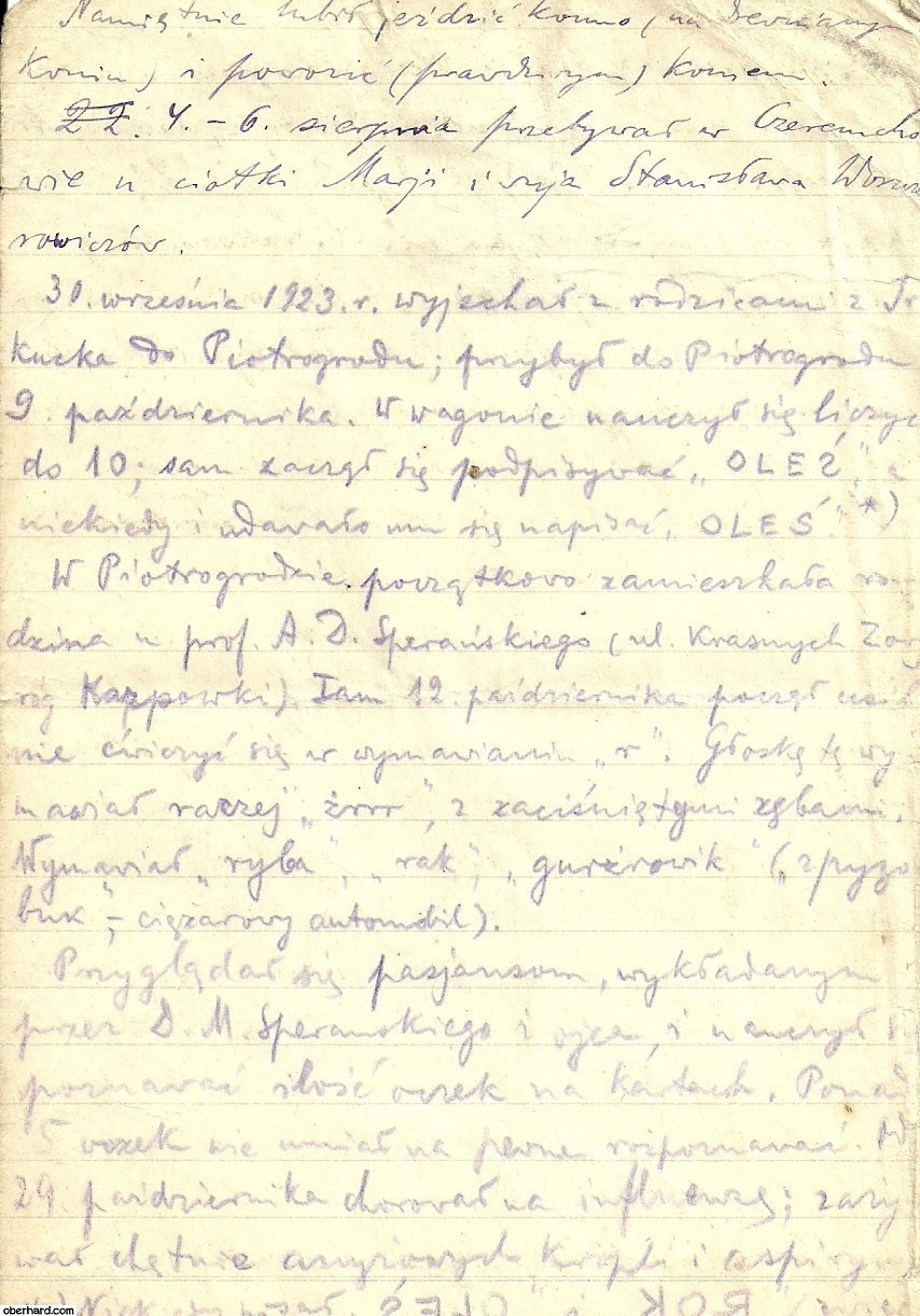 Pamietnik Klaudii Oberhard - wyjazd z Irkucka