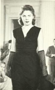 Franciszka Oberhard - zatrudniona jako modelka Mody Polskiej 1950 r.