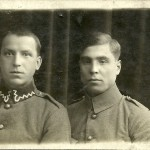 Przyjaciele z wojska: Radczuk Deomitr i S. Wołosowicz 1922r