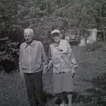 100 - letni Cyprian Tałowski i Maria ( wnuki Łukasza Trojanowskiego.