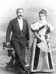 Aleksander i Karolina Oberhard ok 1888r.
