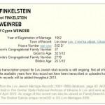 Fany Weinreb i Gustaw Finkelstein (source)