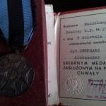 Srebrny Medal Zasłużony Na Polu Chwały
