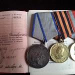 Medale otrzymane po botwie pod Lenino