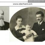 Cezary Kałusowski (ok. 1900r), Klaudia i Izydor Oberhard (ok 1922r ) - Irkuck