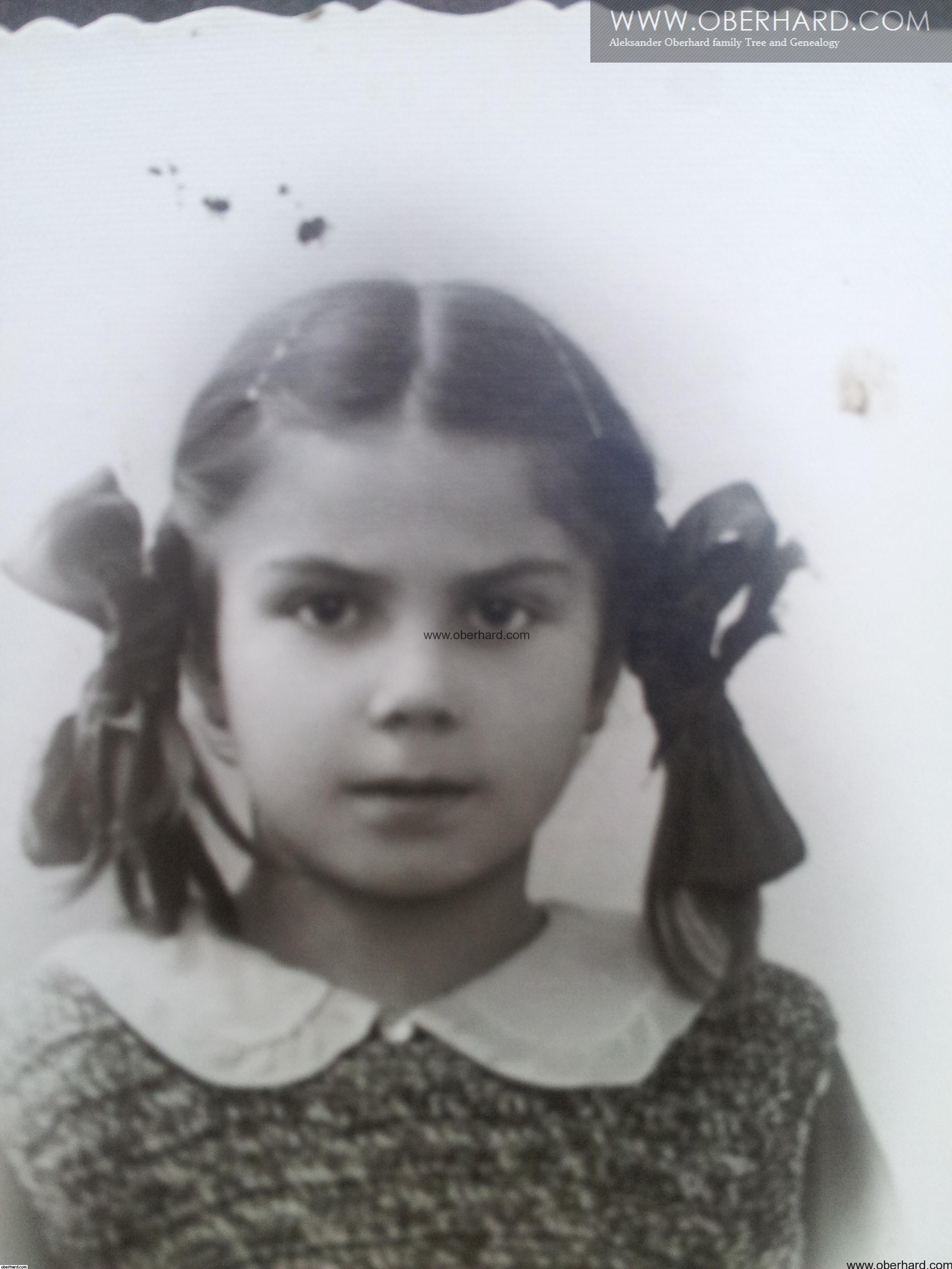 FRANCISZKA WOŁOSOWICZ 1934r. Szczęśliwe dzieciństwo.