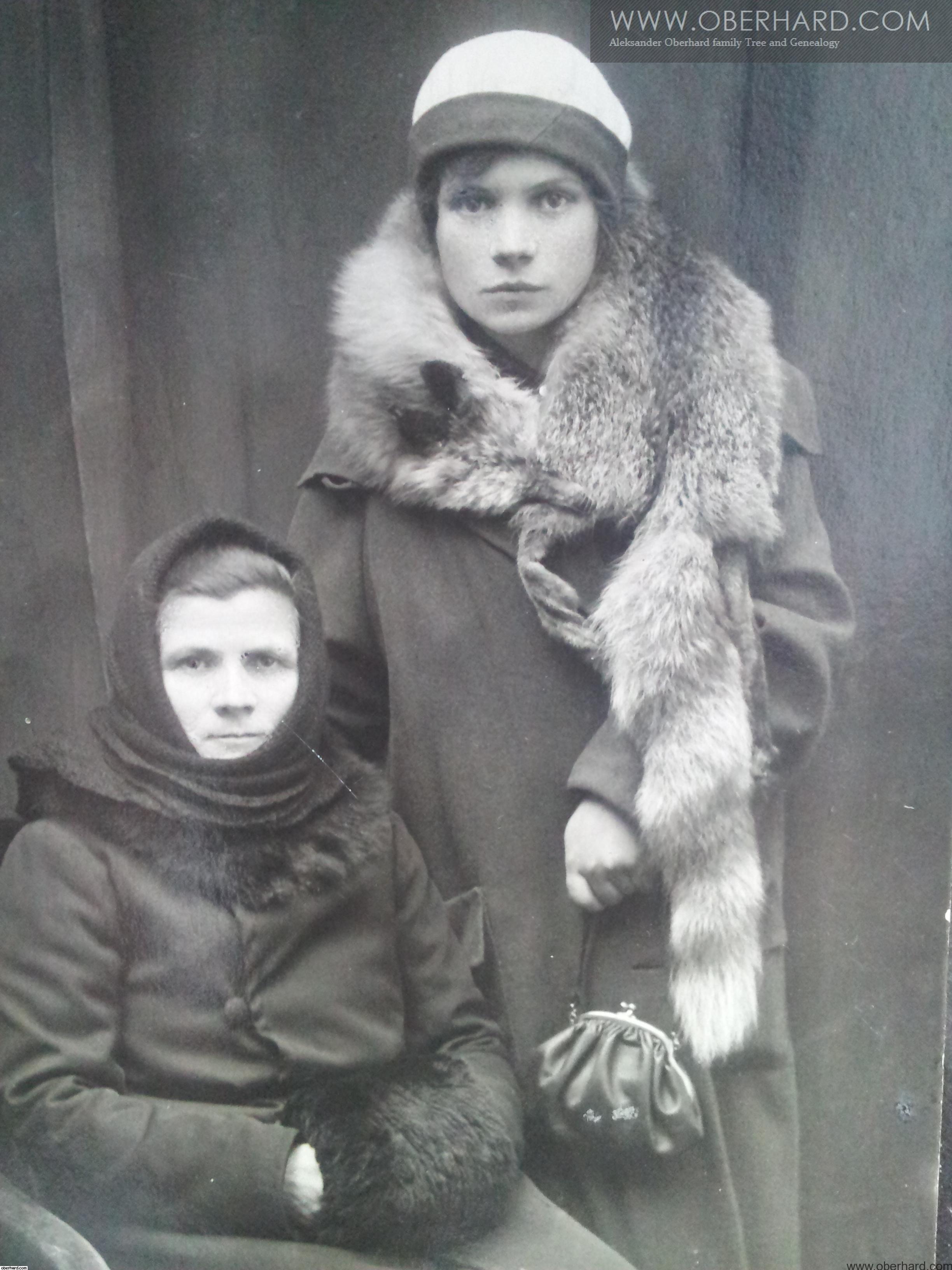 STANISŁAWA TARŁOWSKA I IRENA WOŁOSOWICZ 1931R. Matka i córka.