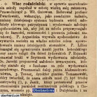 Reforma nauczania 1905 - Karolina Oberhard