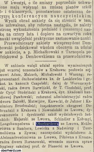Reforma szkolna 1910 - Karolina Oberhard