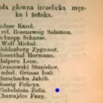 Szematyzm 1876 - Zofia Finkelstein