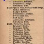 Szematyzm 1891 - Karolina OBERHARD nauczycielka rzeczowa