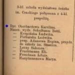 Szematyzm 1902 - Karolina OBERHARD dyrektor