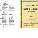 Wykaz ocen uczniów 1899 rok (Lwów)