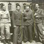 Rok 1946 - Aleksander II Oberhard (trzeci od lewej)