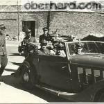 Odbiór delegacji. Okęcie 1946. Za kierownicą Aleksander II Oberhard.
