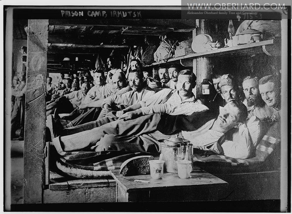 Jeńcy wojenni na Syberii 1914 (Irkuck)