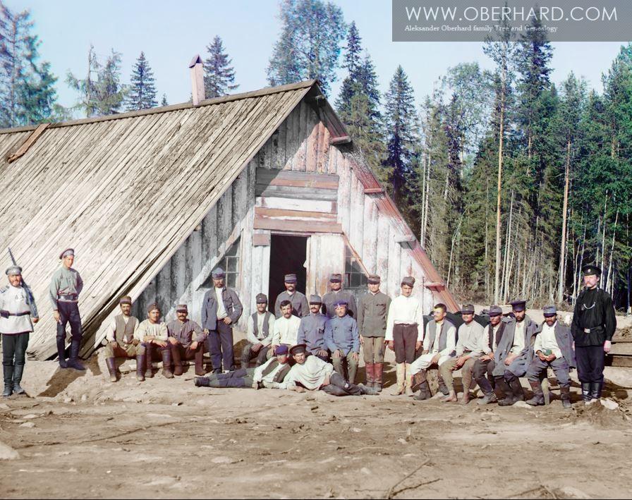 Jeden z obozów dla jeńców Syberia 1914
