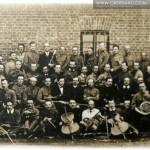 Orkiestra obozowa złożona z jeńców (Krasnojarsk) 1914