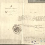 Zaświadczenie rok 1959. Mimo wyroku wykonanego w 1938 wszystkie dokumenty sygnowane są 1959.