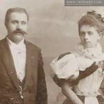 Karolina i Aleksander Oberhard 1886 rok (Lwów)