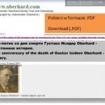 78 rocznica śmierci Izydora Gustawa Oberhard