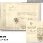 Wydane w 1959 roku dokumenty Izydor Gustaw Oberhard