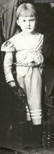 Maria Kałusowska w wieku ok 6 lat.