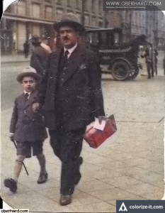 Izydor z synem Aleksandrem. Leningrad 1925r.